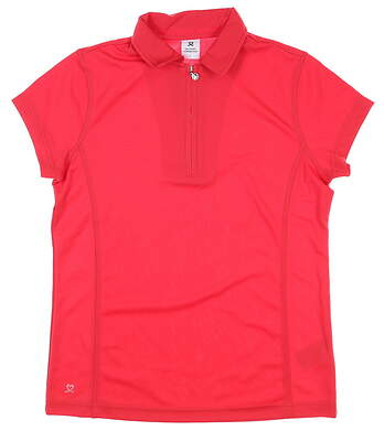 New Womens Daily Sports Golf Polo Large L Red MSRP $85