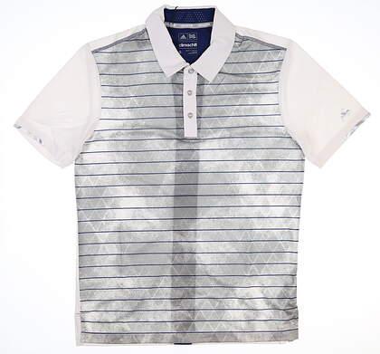 New Mens Adidas Golf Polo Small S Gray MSRP $80 BC1834