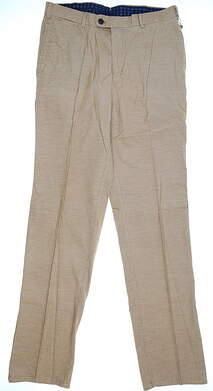 New Mens Peter Millar Corduroy Pants 34X35 Tan MSRP $145 MF13B86
