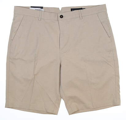 New Mens Dunning Golf Shorts 40 Tan MSRP $80 D7S17H601