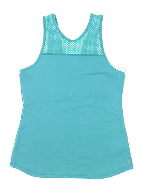 New Womens Lija Tank Top Medium M Teal MSRP $70 19A-1638T2