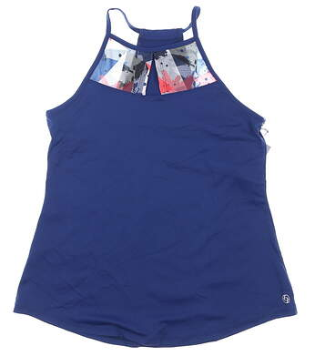 New Womens Lija Tank Top Medium M Midnight Blue MSRP $75 19A-1630T3
