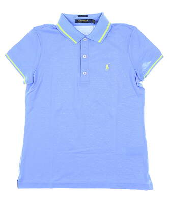 New Womens Ralph Lauren Tailored Fit Golf Polo Large L Blue MSRP $85