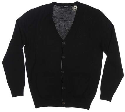 New Mens Travis Mathew Cardigan Large L Black MSRP $120