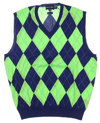 New Mens Ralph Lauren Sweater Vest Large L Multi MSRP $185