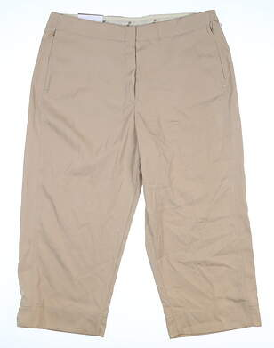 New Womens Tail Basic Elastique Capris 12 Tan MSRP $80 GX4133