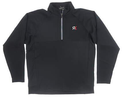 New W/ Logo Mens Sun Mountain 1/4 Zip Pullover XX-Large XXL Black MSRP $70 202141