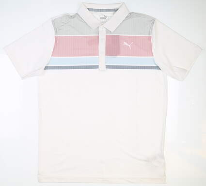 New Mens Puma Road Map Golf Polo X-Large XL White MSRP $65 595788 04