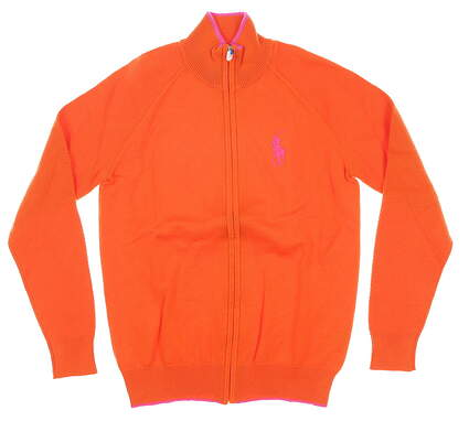 New Womens Ralph Lauren Cardigan Small S Orange MSRP $165