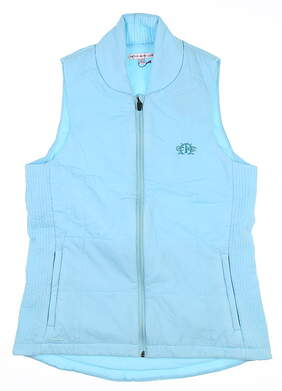 New W/ Logo Womens Peter Millar Insulated Vest Small S Blue MSRP $120 LS17EZ03