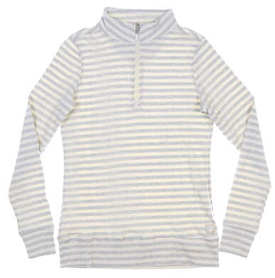 New Womens Straight Down 1/4 Zip Pullover Small S Multi MSRP $92 W60315
