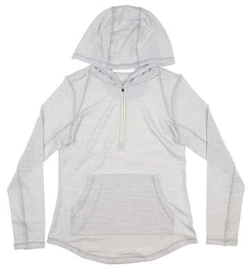 New Womens Straight Down Pullover Small S Gray MSRP $92 W60317