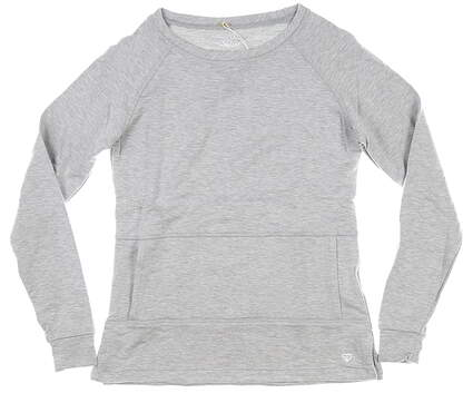 New Womens Straight Down Long Sleeve Crew Neck Small S Gray MSRP $80 W60307