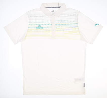 New W/ Logo Mens Puma Limelight Golf Polo X-Large XL White MSRP $70 595104 04