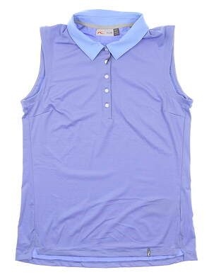 New Womens KJUS Sina Sleeveless Polo Medium M Blue MSRP $89 LG60-H09