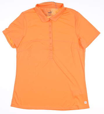New Womens Puma Rotation Polo Large L Cantaloupe MSRP $50 595822 04