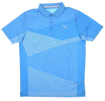 New Mens Puma Alterknit Golf Polo Large L Ibiza Blue MSRP $75 597122 02