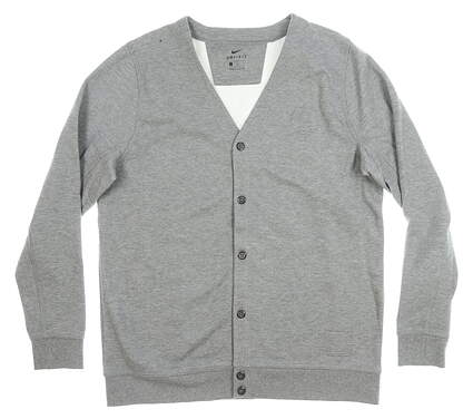 New W/ Logo Mens Nike Cardigan X-Large XL Gray MSRP $100 AO4146