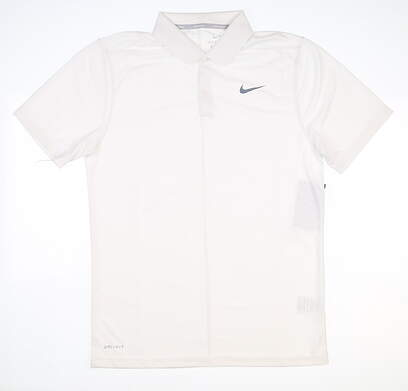 New Mens Nike Dry Golf Polo Small S White MSRP $55 891881 100