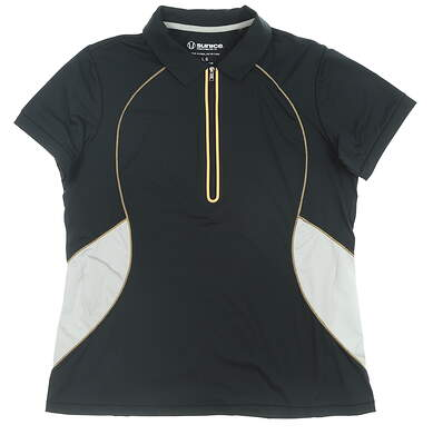 New Womens SUNICE Golf Polo Large L Black MSRP $70 841527