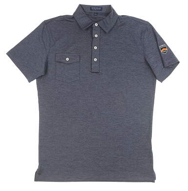 New W/ Logo Mens Peter Millar Polo Small S Navy Blue MSRP $93