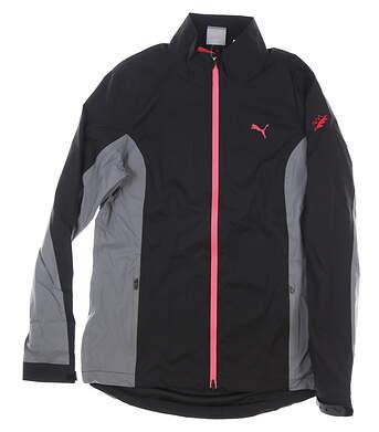 New W/ Logo Womens Puma Ultradry Golf Jacket Large L Black MSRP $150 595417 01