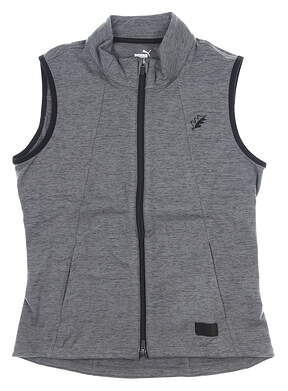 New W/ Logo Womens Puma Warm Up Golf Vest Medium M Gray MSRP $70 595852 01