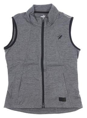 New W/ Logo Womens Puma Warm Up Golf Vest Small S Gray MSRP $70 595852 01