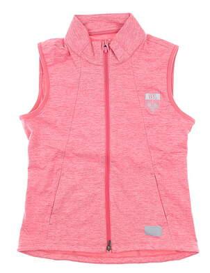 New W/ Logo Womens Puma Vest Small S Pink MSRP $70 595852 05
