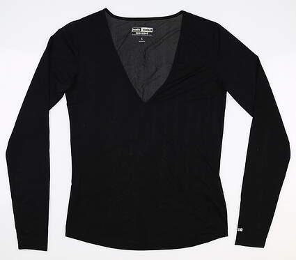 New Womens Jamie Sadock Sunsense Long Sleeve X-Small XS Black MSRP $55 61127