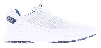New Mens Golf Shoe Footjoy Flex XP Limited Edition Medium 9.5 White/Blue MSRP $110 56250