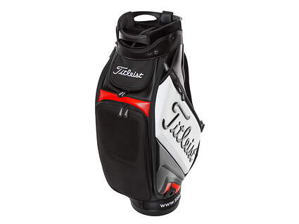 Brand New Titleist Tour Black/Red/White Premium Staff Bag