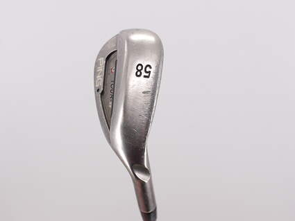 Ping Tour-W Brushed Silver ThinSole Wedge Gap GW 58° 8 Deg Bounce Ping AWT Steel Stiff Right Handed Black Dot 35.0in