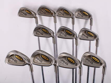 Ping i3 Blade Iron Set 3-LW FST 125 Steel Regular Right Handed Black Dot 38.5in
