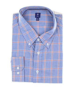 New Mens Footjoy 1857 Stretch Cotton Twill Button Down XX-Large XXL Blue MSRP $165 27867