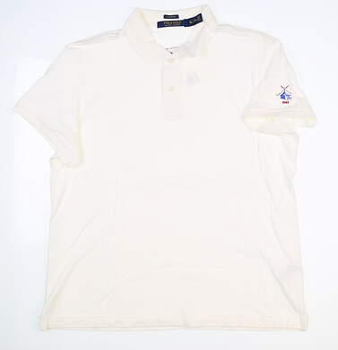 New W/ Logo Womens Ralph Lauren Golf Polo X-Small XS White MSRP $80