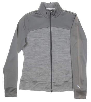 New W/ Logo Womens Puma Golf Jacket Large L Gray MSRP $80 572376