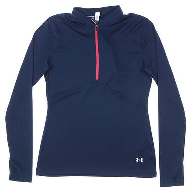 New Womens Under Armour 1/4 Zip Golf Pullover Small S Navy Blue MSRP $69 UW1435