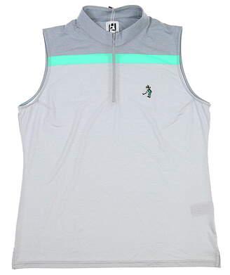 New W/ Logo Womens Footjoy Sleeveless Golf Polo X-Large XL Multi MSRP $72