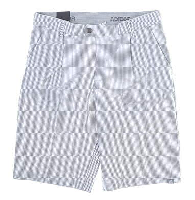 New Mens Adidas Ultimate 365 Gingham Shorts 32 Gray MSRP $75 DQ2160