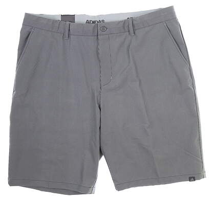 New Mens Adidas Ultimate 365 Pinstripe Shorts 40 Gray MSRP $75 CD9885