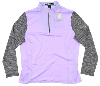 New Womens Jamie Sadock 1/4 Zip Pullover Large L Purple MSRP $100 91100