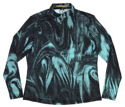 New Womens Jamie Sadock 1/4 Zip Pullover Small S Multi MSRP $90 91128