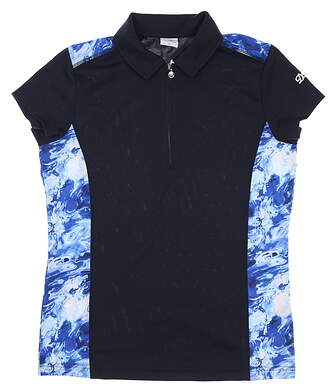 New Womens Daily Sports Golf Polo Medium M Navy Blue MSRP $75