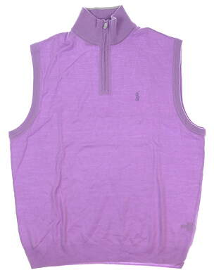 New Mens Ralph Lauren Sweater Vest Large L Purple MSRP $155