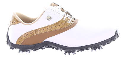 New Womens Golf Shoe Footjoy LoPro Collection Medium 9.5 White/Brown MSRP $100 93926