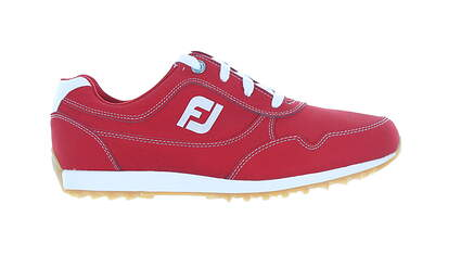 New Womens Golf Shoe Footjoy FJ Sport Retro Medium 7.5 Red MSRP $100 92386