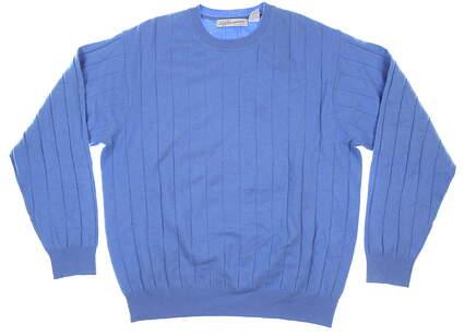 New Mens Greg Norman Sweater Medium M Blue MSRP $240 GNF8S105