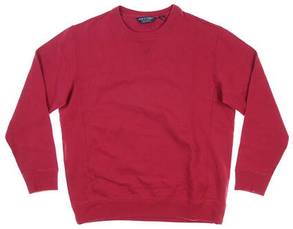 New Mens Ralph Lauren Long Sleeve Crew Neck Large L Red MSRP $98