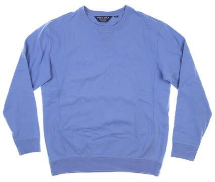New Mens Ralph Lauren Long Sleeve Crew Neck Medium M Blue MSRP $98